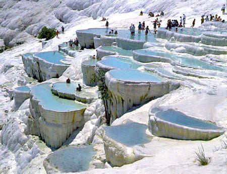 pamukkale hot springs hot springs of pamukkale turkey