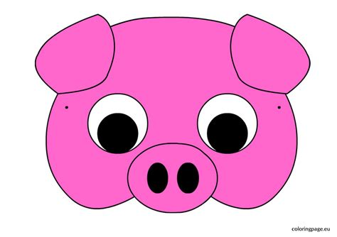 Pig Mask Template carnival coloring page