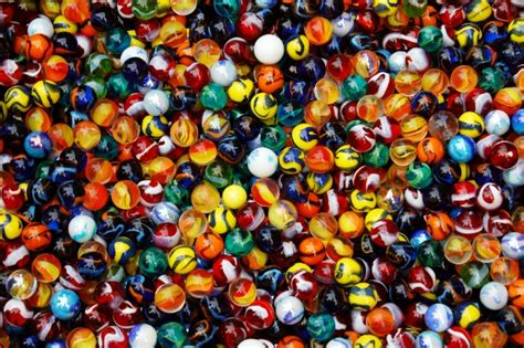 with marbles an machine make with 2 000 marbles
