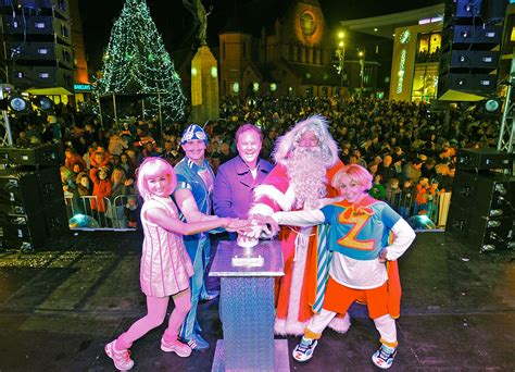 in pictures woking christmas lights switch on 2014 get