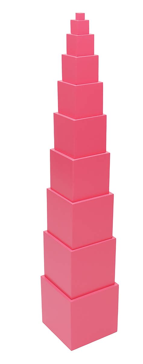 Pink Tower 1 discount montessori pink tower