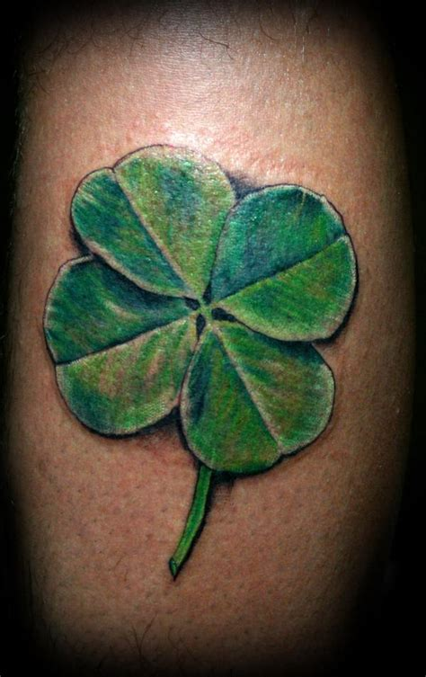 four leaf clover tattoos four leaf clover tattoos