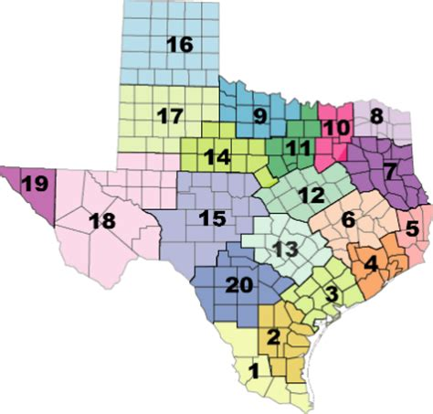 texas school district map by region region 12 esc texas