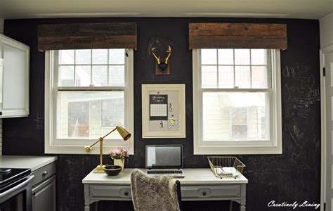Office Window Valances Diy Rustic Window Valances By Creatively Living