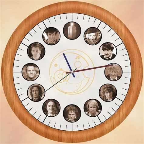 cool clock faces doctor who clock by kapinou on deviantart