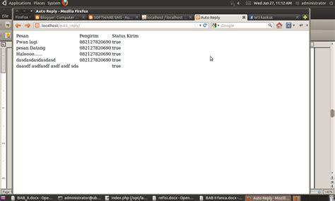 tutorial gammu php auto reply sms gateway gammu dengan php computer share