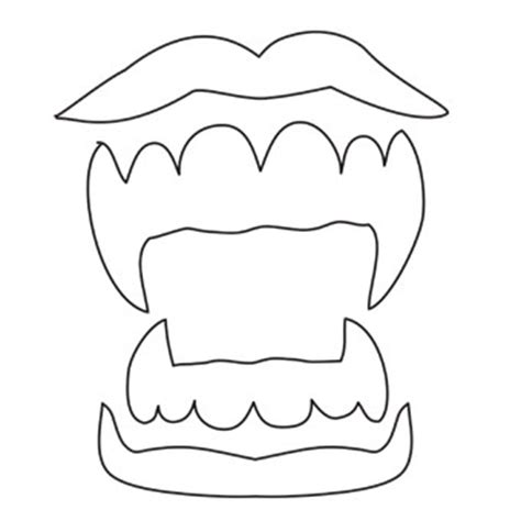 halloween dental coloring page sketch vire fangs coloring pages