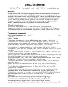 Interior Designer Resume Objective Interior Design Free Resumes