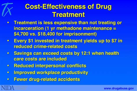 Detox Substance Abuse Treatment 6 cost effectiveness of treatment national