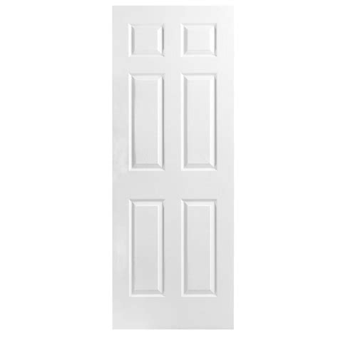 28 X 78 Interior Door Masonite 28 In X 78 In Textured 6 Panel Hollow Primed Composite Interior Door Slab 439667