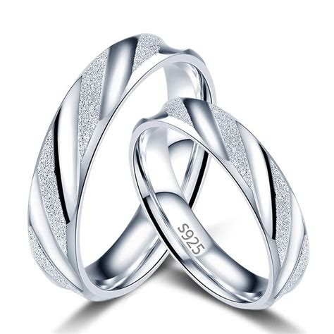 sterling silver couple matching wedding bands yoyoon