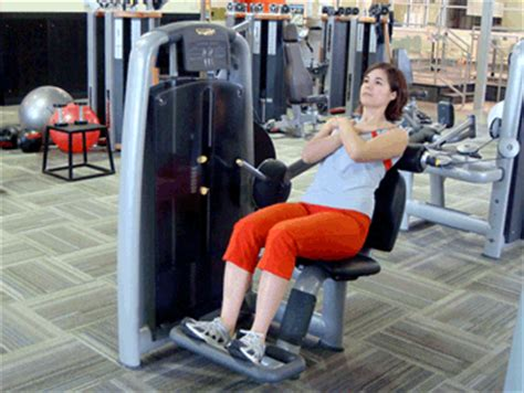 seated  extension machine exercise demonstration