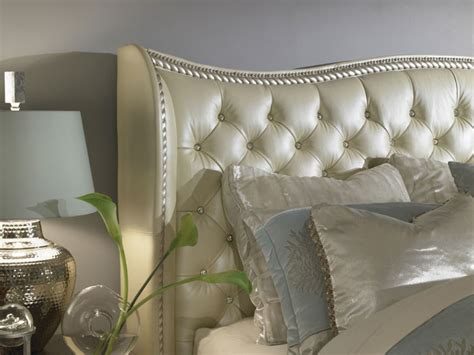 aico hollywood swank upholstered bedroom set aico hollywood swank creamy pearl upholstered bed