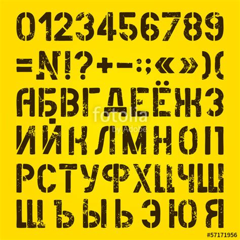 printable russian numbers quot letters and numbers painted stencils russian alphabet
