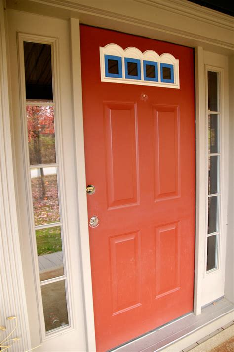 front entry way front door redo using faux wood grain technique living