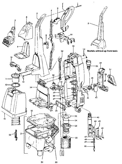 hoover floormate parts diagram hoover f5892 steamvac carpet cleaner parts