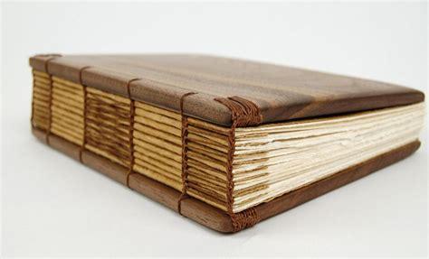 custom  handmade journal unique wood book black