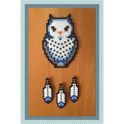 perler bead patterns owl owl dreamcatcher perler by gittejulie kandi ideas
