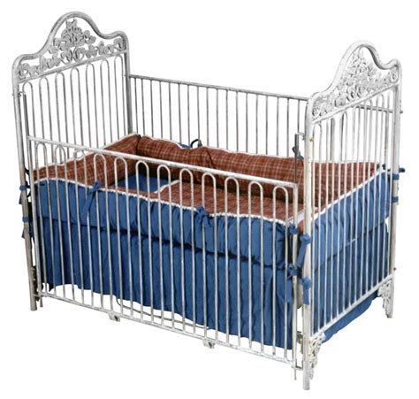 White Iron Cribs by Iron Garden Crib In White