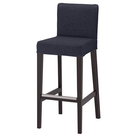 Black Bar Stool With Backrest by Henriksdal Bar Stool With Backrest Brown Black Vansta