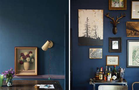 Dark blue interior inspiration lobster and swan