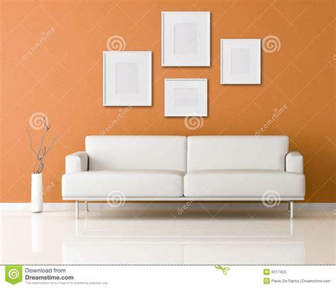 white sofas in living rooms white sofa in a orange living room stock illustration