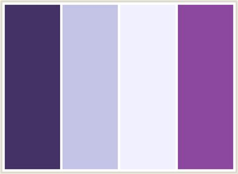 colors that go with light purple colorcombo14 with hex colors 443266 c3c3e5 f1f0ff 8c489f