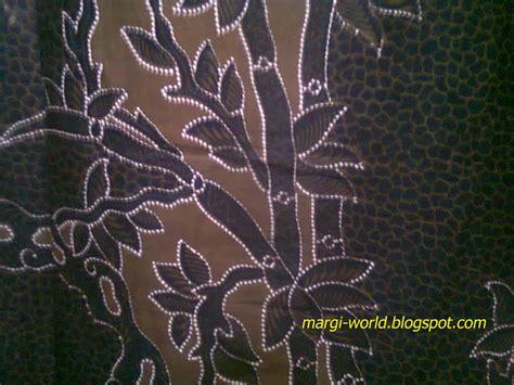 contoh gambar desain batik rumput dengan warna trend klasik
