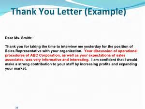 Thank You Letter Client After Presentation thank you letter example dear ms smith thank you for