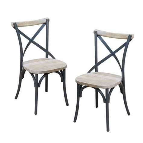 deluxe dining chair in antique black set of 2 cwm2mdx