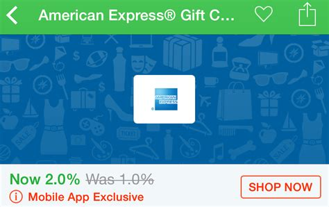 Amex E Gift Card - 2 back on amex gift cards through the ebates app today only frequent miler