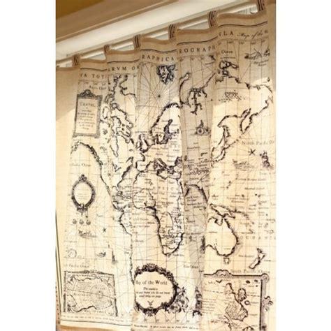 world map curtains world map curtain