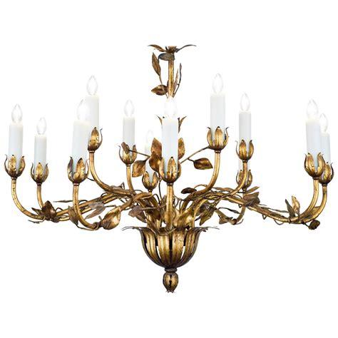 gold leaf tole chandelier for sale at 1stdibs