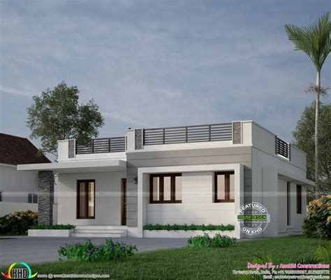kerala home design front elevation 18 lakhs budget estimated house in kerala front