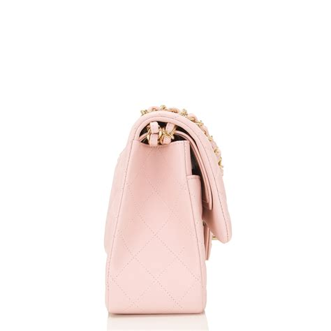 light pink chanel bag chanel light pink quilted lambskin jumbo