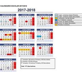 Calendario 2018 En Panama Calendario Escolar Para El Curso 2017 2018 Suatea