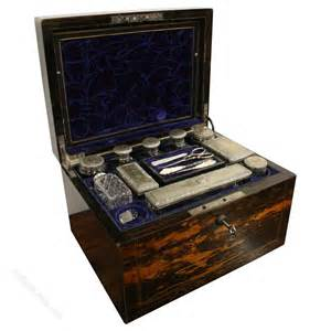 Vanity Boxes by Antiques Atlas Mid Travelling Vanity Box