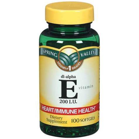 vitamin e supplement valley vitamin e 200 i u softgels dietary
