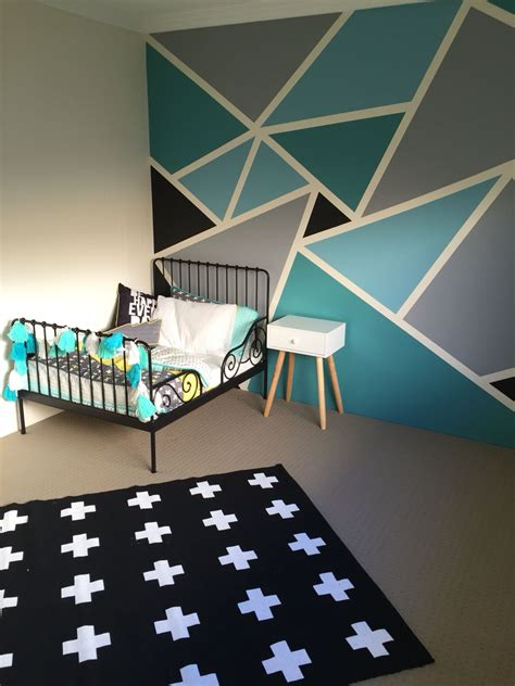 cool wall painting ideas bedrooms big boys bedroom withal the ikea minnen toddler bed frame