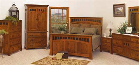 Bridgeport Mission Style Oak Bedroom Collection Amish Mission Bedroom Furniture