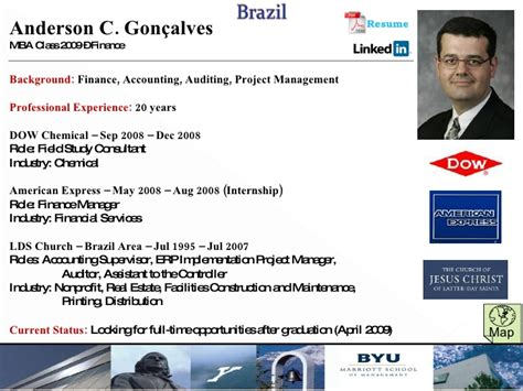 Dow Chemical Mba Internship by 2009 2010 Cis Profiles