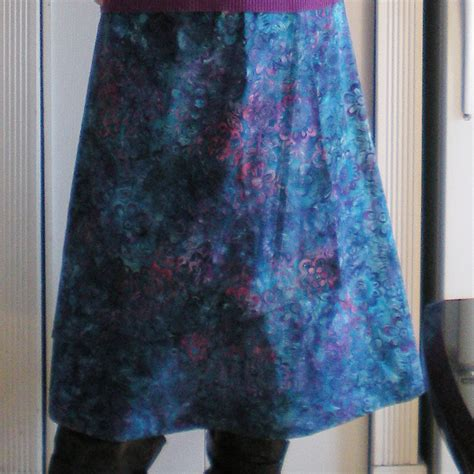 Batik Skirt Pattern   cotton batik skirt simplicity 2416 pattern review