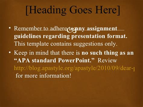 Apa Template Powerpoint Apa Powerpoint Template