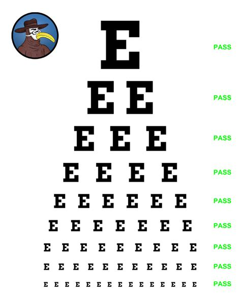 vision test physical tips the eye gomerblog