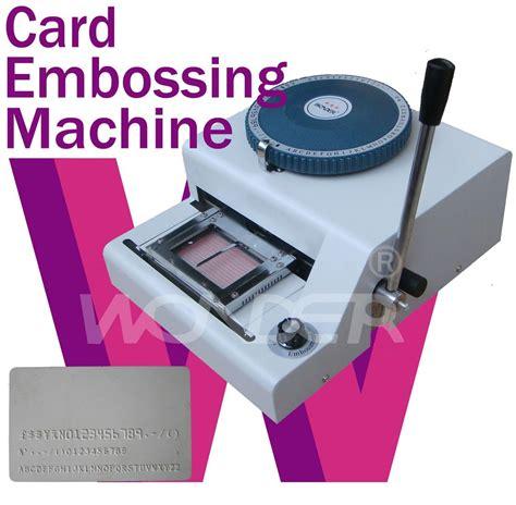 plastic card machine plastic card embossing machine paypal buy card embosser