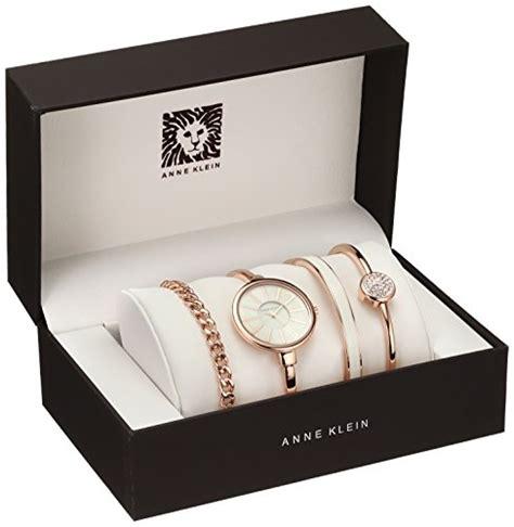 Anne Klein Women's AK/1470RGST Rose Gold Tone Bangle Watch and Bracelet Set   WatchDune