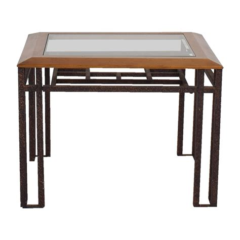glass and brass end tables brass end table furniture