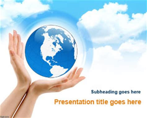 powerpoint design environment free earth enviroment powerpoint template