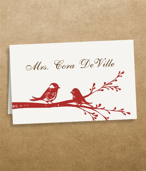 wedding place card template free word birds place cards template print