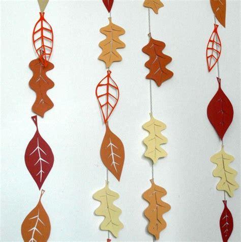 decorar hojas papel oto 241 o con hojas secas ideas para decorar la casa
